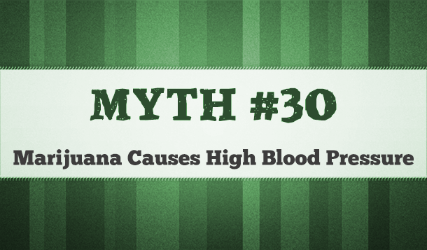 does marijuana cause high blood pressure